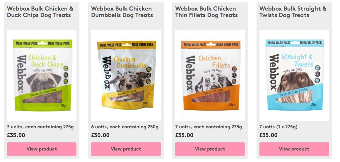 Webbox products